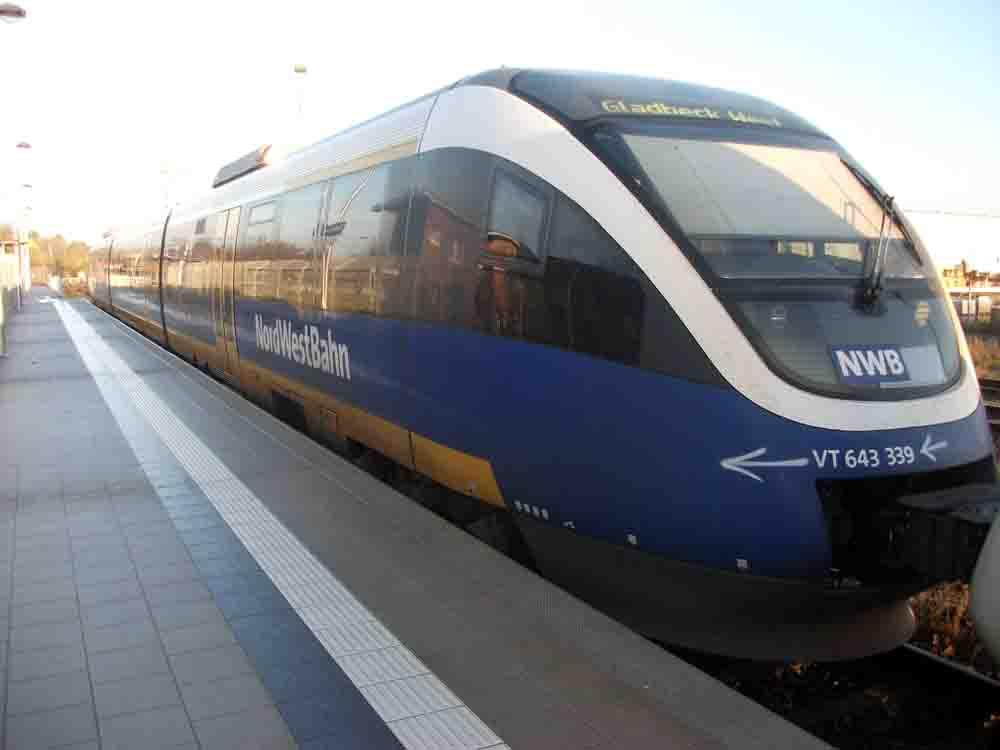 Ein Zug der Nordwestbahn im Borkener Bahnhof © Foto: Kreis Borken