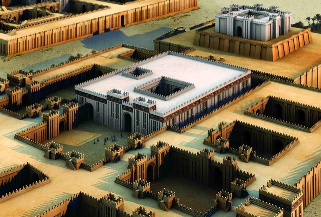3D-Rekonstruktion des seleukidischen Resch-Heiligtums, 3. Jh. V. Chr. © artefacts-berlin.de; wissenschaftliches Material: Deutsches Archäologisches Institut