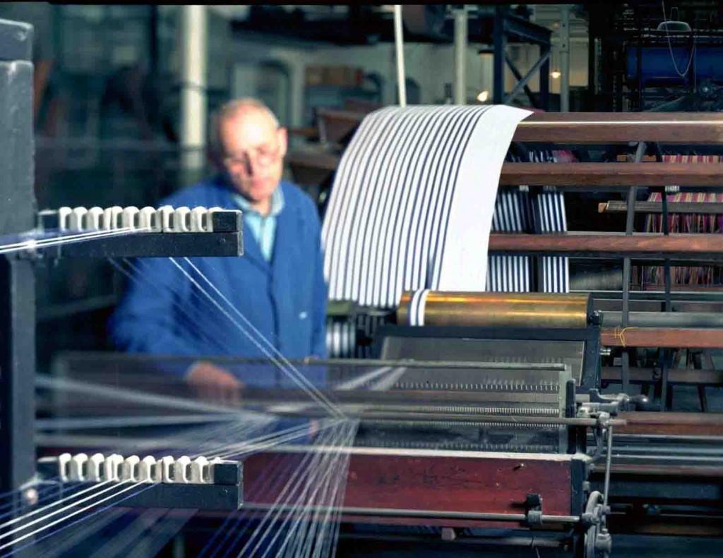 Die Schärmaschine in der Weberei des TextilWerks. Foto: LWL