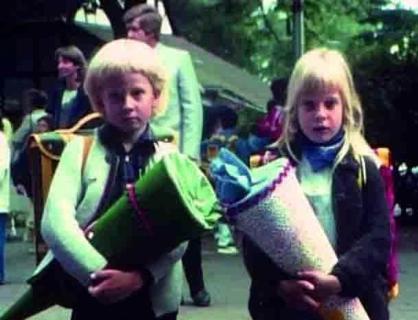 Der erste Schultag, Szene aus einem Amateurfilm der 1970er Jahre. Foto: LWL