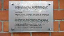 Erinnern für die Zukunft: Tafel in der Nordstraße macht (eine) Geschichte sichtbar
