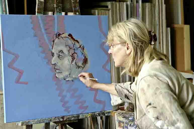 """In ihrer Ausstellung beschäftigt sich Ulrike Zilly mit dem """"Bürgeradel"""". Foto: Stadt Herten"""