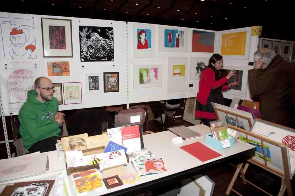 Ein Treffpunkt für Künstler, Sammler und Kunstinteressierte ist die Deutsch-Niederländische Grafikbörse in Borken. Foto: Kreis Borken