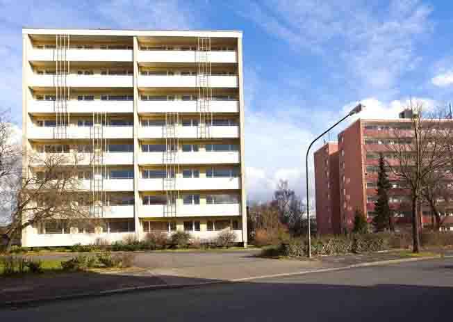Die Stadt Hamm hat die Hochhäuser an der Waldenburger Straße gekauft und wird diese abreißen lassen.  Foto: Stadt Hamm