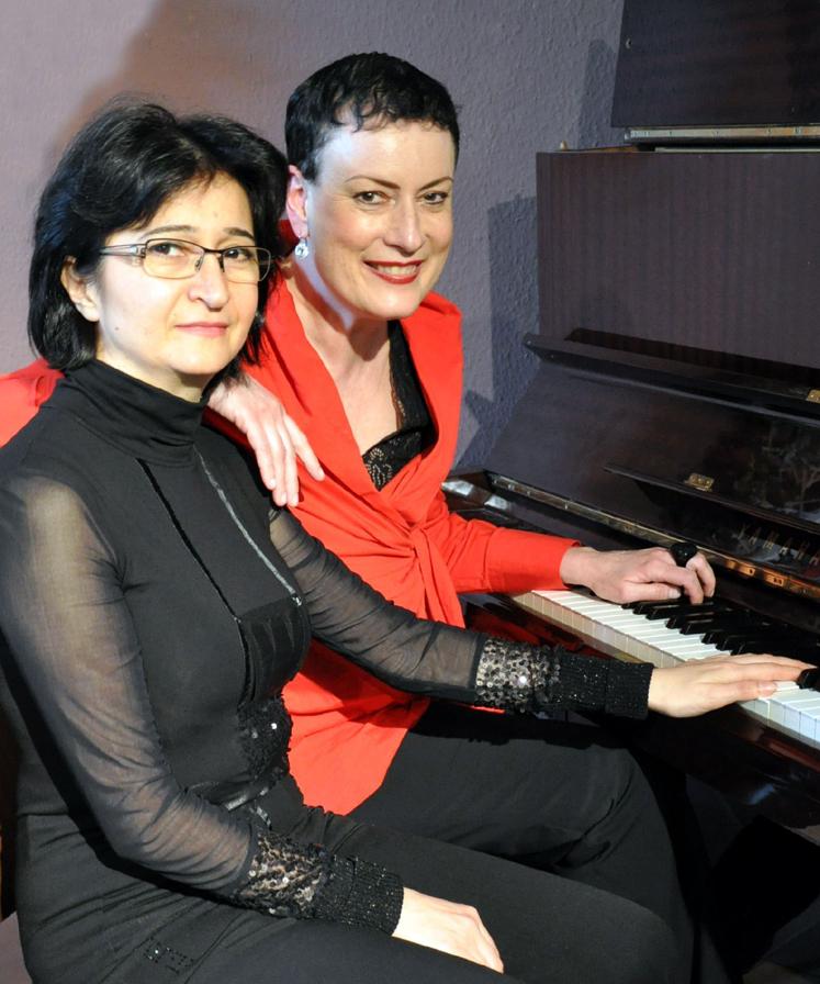 Tizah Haase und Armine Ghuloyan präsentieren Lieder und Chansons im Schiffshebewerk Henrichenburg. Foto: Privat