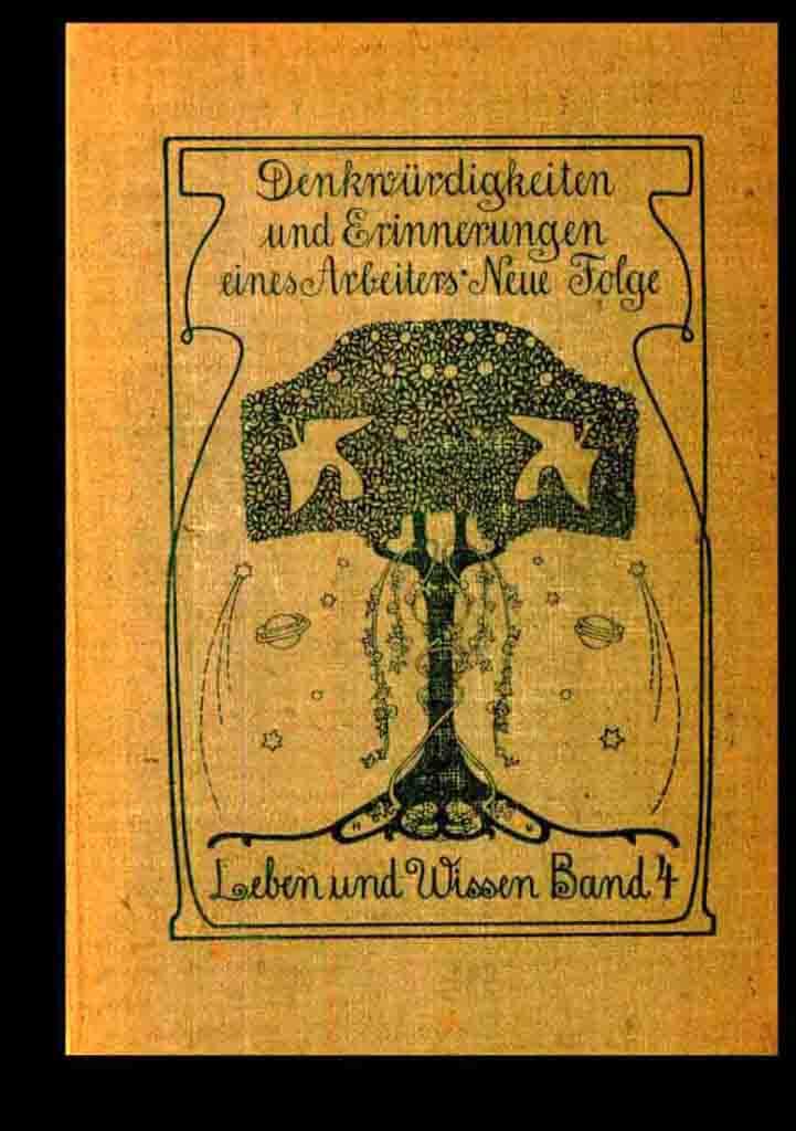 Die Autobiografie Carl Fischers, bearbeitet von Paul Göhre, 1904 erschienen.     Foto: Fritz-Hüser Institut Dortmund